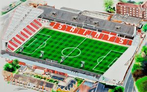 The Dell Stadia Art - Southampton FC # 9343125