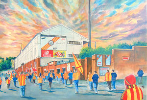 stadia scotland/firhill stadium going match fine art partick