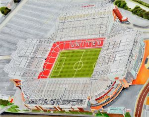 Old Trafford Stadia Art - Manchester United FC # 9342219