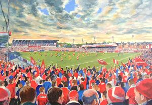 The Willows Stadium Fine Art - Salford Red Devils Rugby League