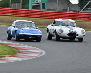 CJ3 6853 Paul Tooms, Lotus Elan, David Edge, David Clark, Jaguar E-Type