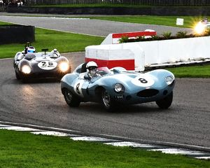 CM10 4983 Ben Cussons, Jaguar D-Type, James Wood, Lotus-Climax 15