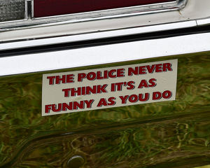 CM23 8890 Police Car Bumper Sticker