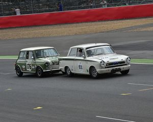 CM3 9996 John Avill, Ford Lotus Cortina, Nick Swift, Mini Cooper S
