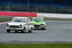 CM6 7509 Graham Myers, Lotus Cortina, 88, Nic Strong, Ford Consul Classic