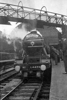 Flying Scotsman in a railway station
