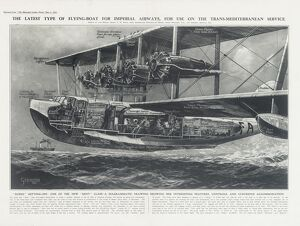 Imperial Airways Poster, seaplane Scipio