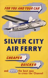 Poster advertising Silver City Air Ferry