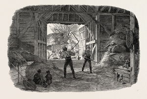 AGRICULTURAL PICTURES: THRASHING, 1846