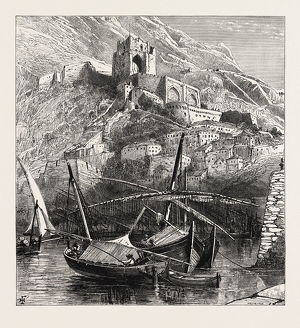 Al the Old Mole, Gibraltar and Ronda, 19th century engraving