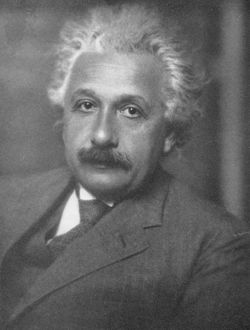 Albert Einstein (1879-1955), German-Swiss-American mathematician and physicist