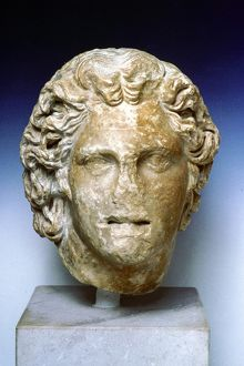 Alexander the Great (356-323 BC), Alexander III of Macedon. Ivory portrait bust