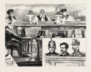 THE ANARCHISTS IN PARIS, FRANCE, THE TRIAL OF RAVACHOL AT THE PALAIS DE JUSTICE: M