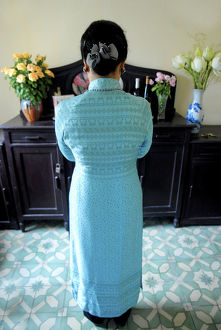 Ancestor worship in a Hanoi home