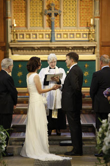 Anglican wedding at St Michael's church
