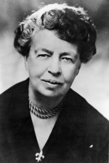 (Anna) Eleanor Roosevelt (1884-1962) American humanitarian. Chairman UN Human Rights