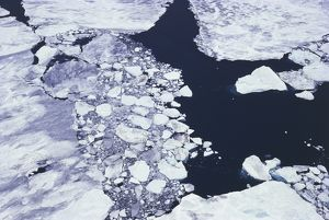 Antarctica, Ross Sea, Aerial view of ice pack