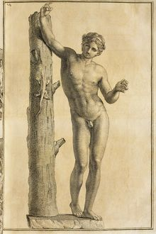 Apollo of Villa Borghese in Rome from Unpublished Monuments of Antiquity (Monumenti