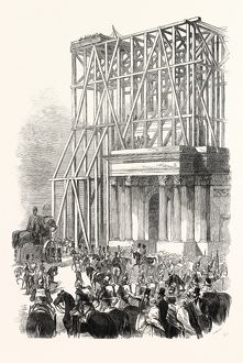 ARRIVAL OF THE WELLINGTON STATUE AT THE ARCH, 1846