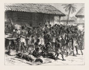 The Ashanti War: Ashantees Buying Muskets With Gold Dust At Assinee