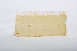 Australian Stormy cow's milk cheese, close-up
