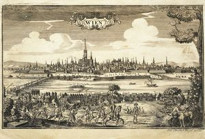 Austria, Vienna, View of the city, engraving