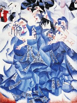 Ballerina in Blu (Blue Dancer), 1912, oil and spangles on canvas