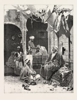 A Barber's Shop At Cairo: Discussing The Situation