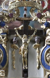 Baroque church crucifix