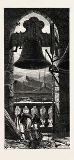 Bell Tower, Murcia, Ganada, Spain, 19th century engraving