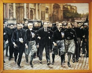 Benito Mussolini and 'The Quadrumvirs', photograph, October 1922