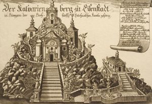 Bergkirke Church in Eisenstadt (Kismarton in Hungarian), print
