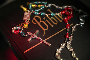 Bible and prayer beads