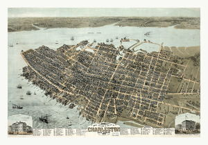 Bird's Eye View Of The City Of Charleston South Carolina By C. Drie