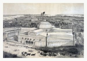 Birds Eye View Of The New York Crystal Palace And Environ By John Bachmann
