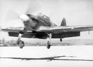 A british hawker hurricanes landing in the ussr during world war 2.