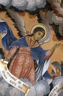 Bulgaria, Rhodope Mountains, Rila Monastery, Frescoes