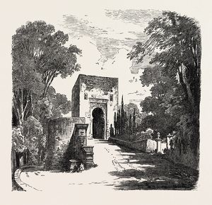 The Burning Of The Alhambra At Granada: The Gate Of Justice