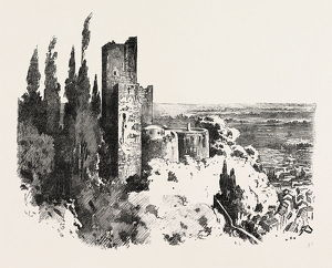 The Burning Of The Alhambra At Granada: The Red Tower