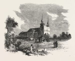 THE CANADIAN RED RIVER EXPLORING EXPEDITION: ST. BONIFACE CATHEDRAL, RED RIVER, 1858