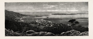 Cannes And The Isles S. Marguerite And S. Honorat France Engraving 1884
