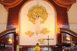 Catholic mass in a vietnamese church