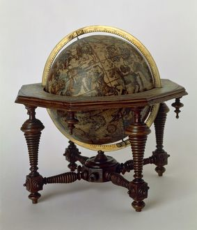 Celestial globe created by Vincenzo Coronelli, 1693