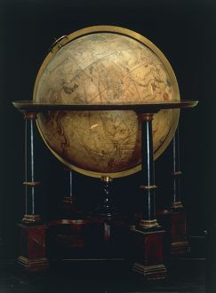 Celestial globe by Jacques de la Feuille, created in Amsterdam, 1700