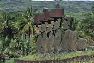 Chile, Easter Island, Rapa-Nui National Park (UNESCO World Heritage List, 1995). Moais