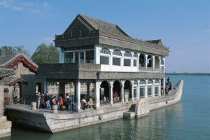 China - Beijing. Imperial Summer Palace (UNESCO World Heritage List, 1998). Marble boat