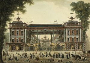 The Chinese Baths and Boulevard des Italiens, built by Francois Richard-Lenoir in 1792