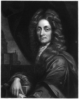 Christopher Wren (1632-1723), 1833. Wren, English architect, mathematician and physicist