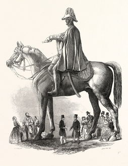 COLOSSAL STATUE OF THE DUKE OF WELLINGTON, BY M.C. WYATT, ESQ., 1846