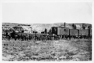 history/construction train union pacific railroad 1868